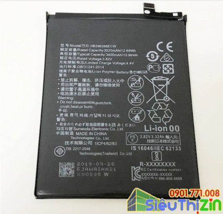 thay pin điện thoại huawei p20 chính hãng 2