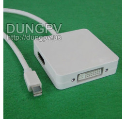 mini Displayport to HDMI-Displayport-DVI