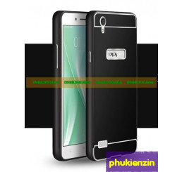 Ốp lưng Oppo Mirror 5 A51 viền kim loại kèm nắp lưng